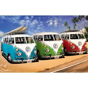 Diamond Painting 3 Volkswagen Busjes