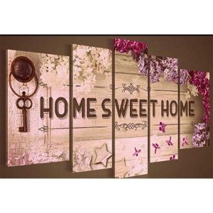 Diamond Painting Home Sweet Home Vijfluik