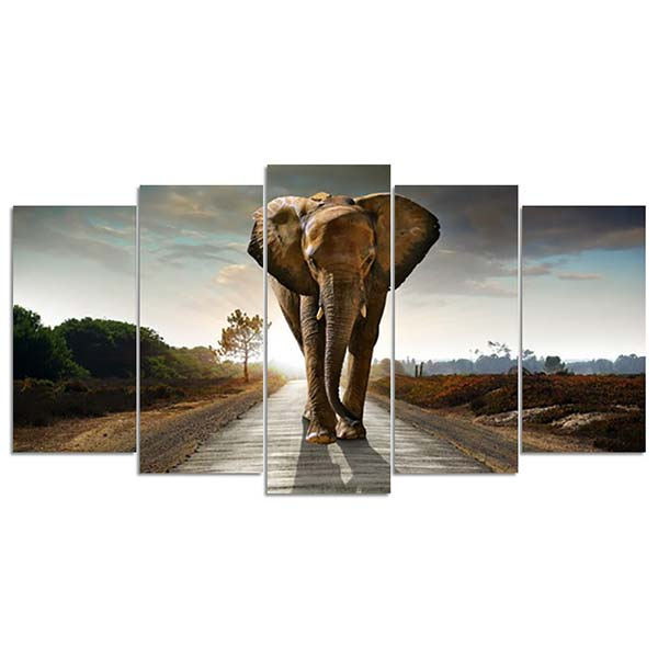 Diamond Painting Olifant Vijfluik