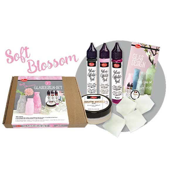 Glasdesign Set Soft Blossom