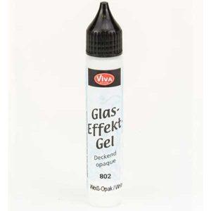 Viva Glaseffect Gel Dekkend - Wit